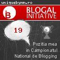 Despre - Poziția mea în Campionatul Național de Blogging