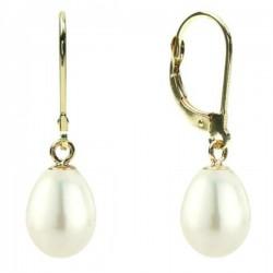 Cercei de aur cu perle naturale